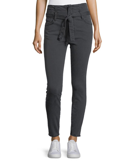 Current/Elliott The Corset Stiletto Skinny-Leg Pants