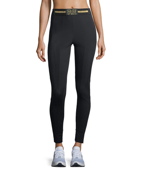 PE Nation Riseball Solid Full-Length Performance Leggings