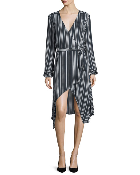 Ira Striped Wrap Dress
