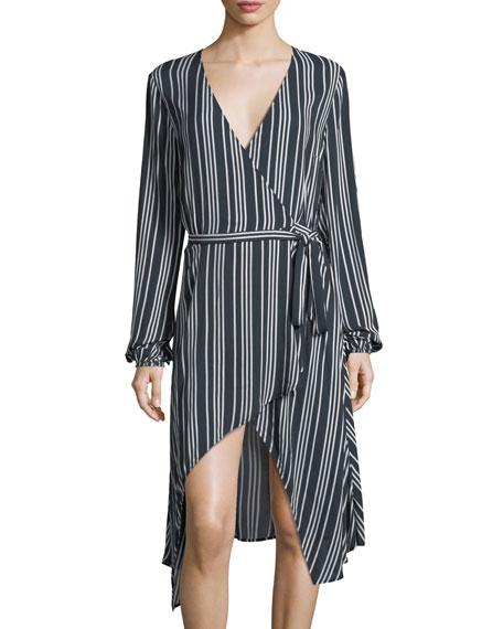 Ira Striped Wrap Dress