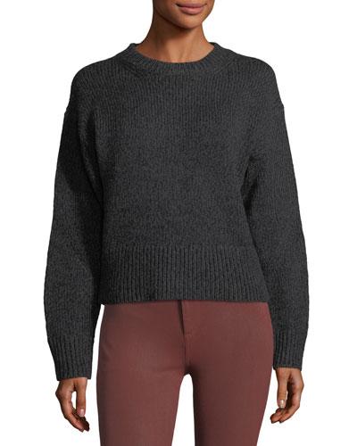 Sheila Crewneck Wool-Blend Pullover Sweater