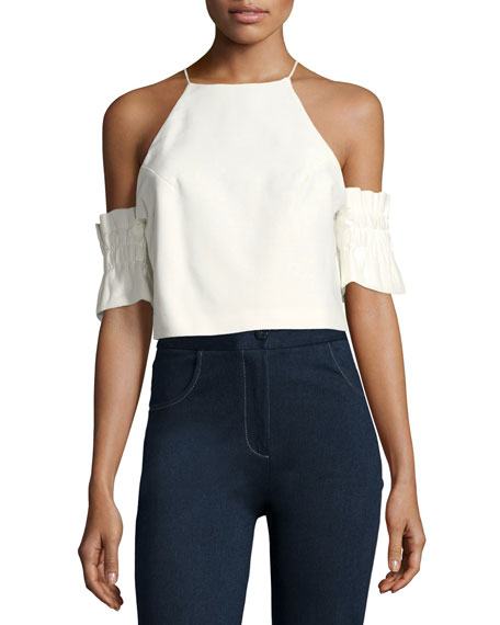 C/MEO Double Take Cold-Shoulder Blouse