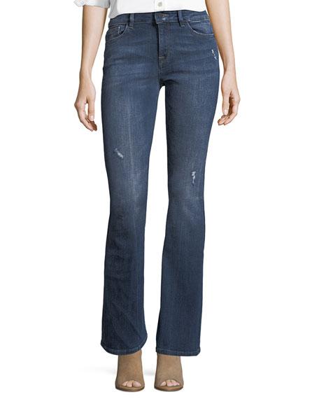 DL1961 Premium Denim Bridget Instasculpt Boot-Cut Jeans w/