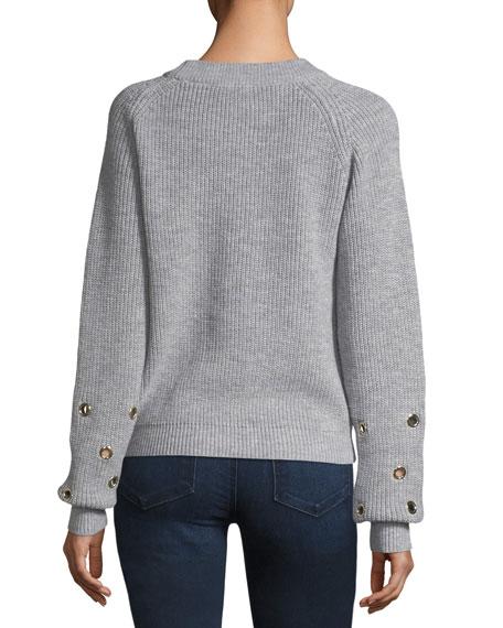 Grommet-Embellished Sweater
