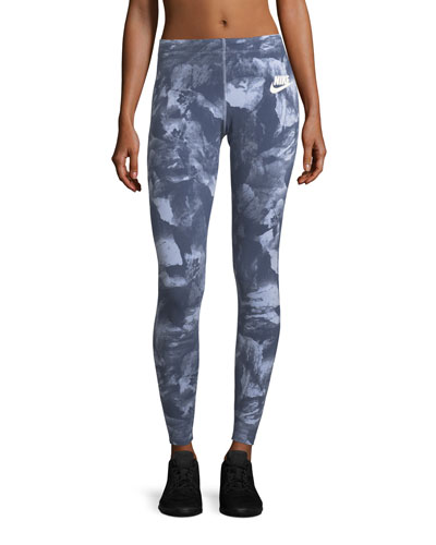 Glacier-Print Formfitting Leggings