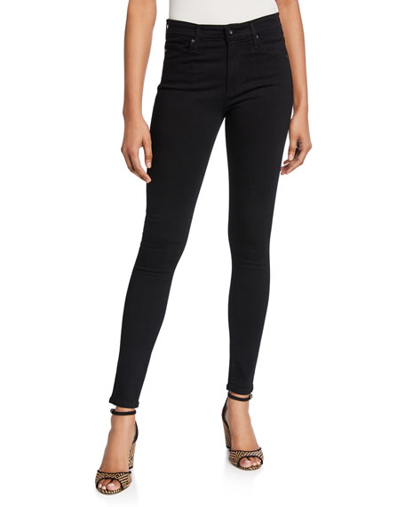 Farrah High-Waist Stretch-Denim Skinny Jeans