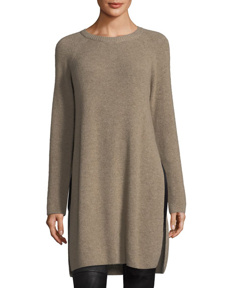 Eileen Fisher Italian Undyed Cashmere Extra Long Tunic