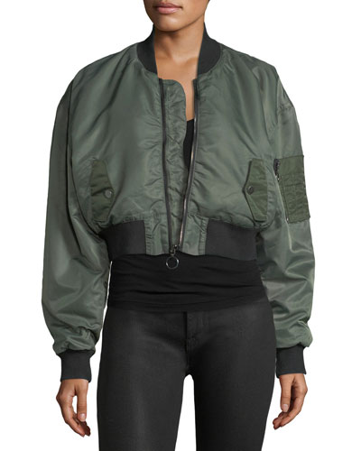 Rogue Cropped Bomber Jacket