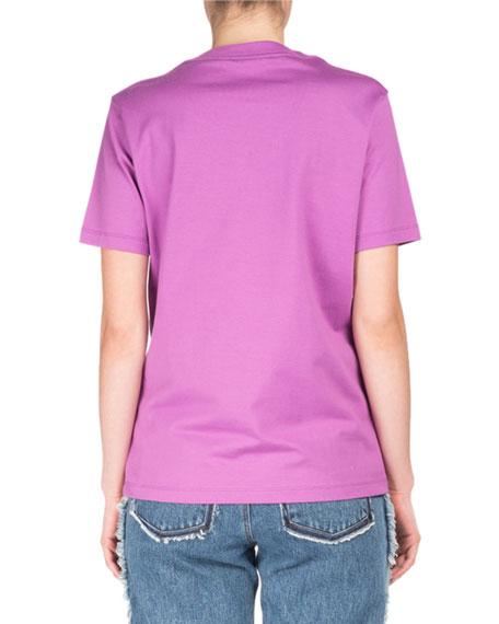 Taline Crewneck Short-Sleeve Cotton T-Shirt