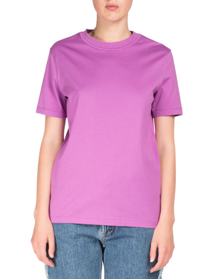 Taline Crewneck Short-Sleeve Cotton T-Shirt