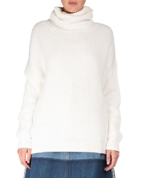 Acne Studios Poppy Chunky Long-Sleeve Turtleneck Sweater w/