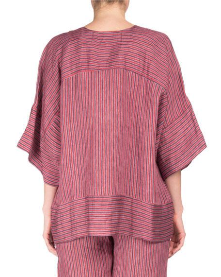 Lena Striped Round-Neck Tunic
