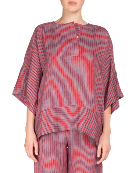 Acne Studios Marceline Drawstring Striped Straight-Leg PJ Pants