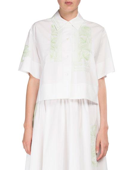 Acne Studios Hella Full Cotton Skirt w/ Floral