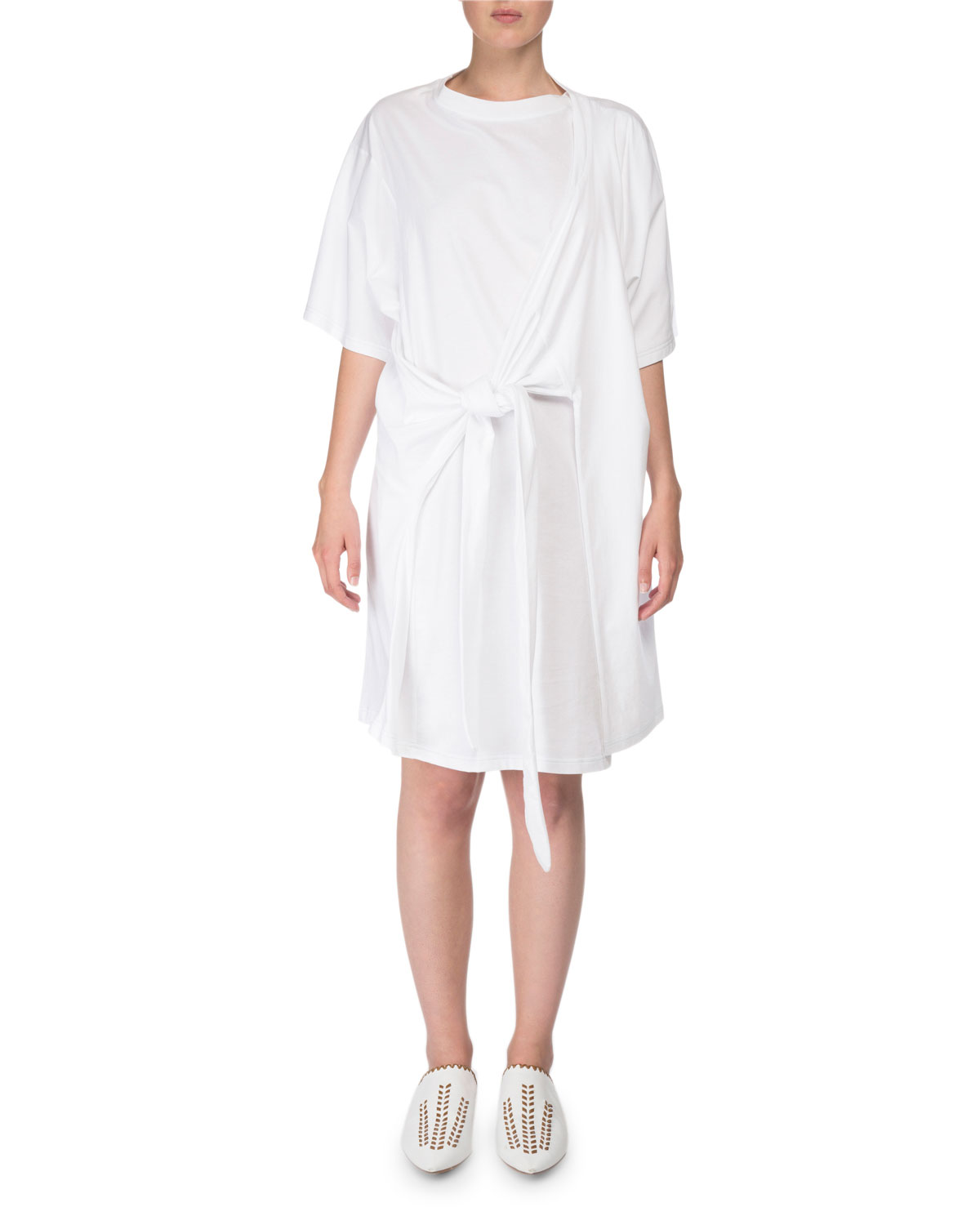 Lylia Faux Wrap T Shirt Dress