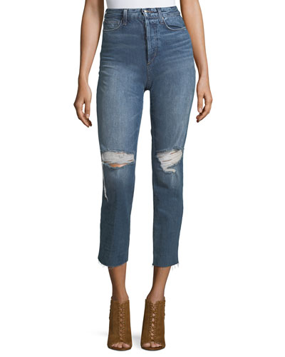 The High-Rise Straight-Leg Ankle Jeans