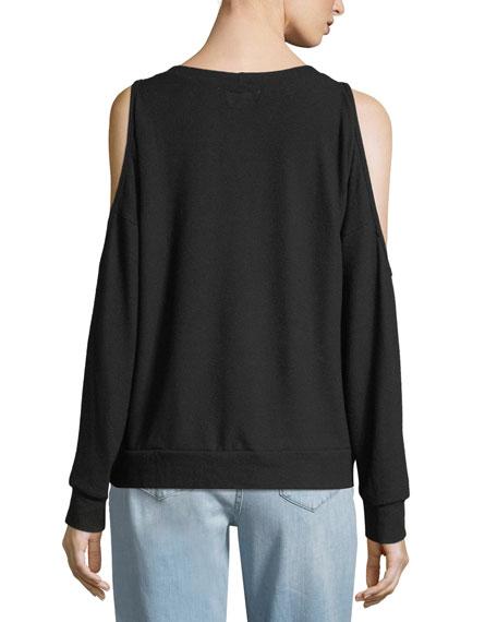 Steph Graphic Cold-Shoulder Sweatshirt