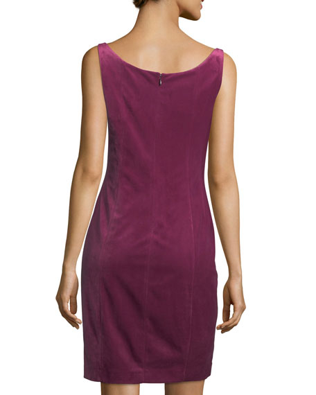 Rena Sleeveless Velvet Cocktail Dress