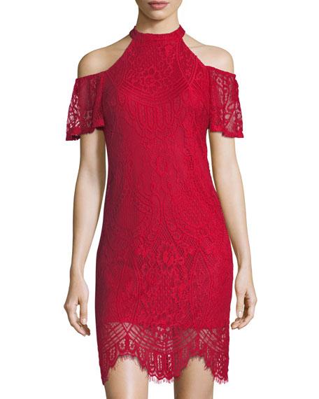 Cold-Shoulder Lace Dress