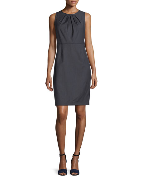 Rosario Sleeveless Stretch-Wool Dress