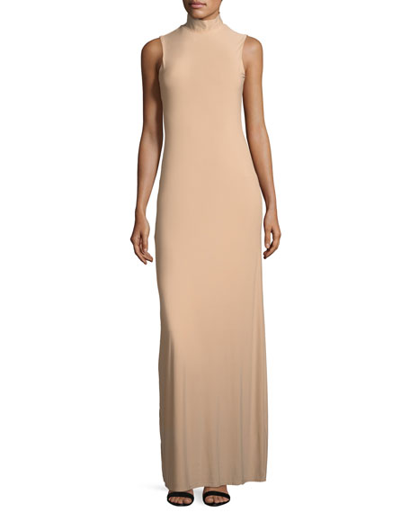 Lurelly Issy Sleeveless Side-Slit Column Evening Gown