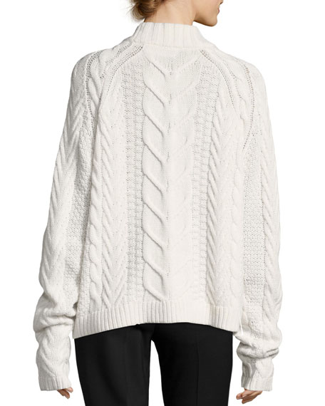Fisherman Cable-Knit Wool-Cashmere Sweater