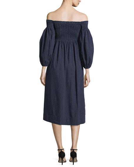 The Bishop Sleeve Carnival Poplin Midi Dress