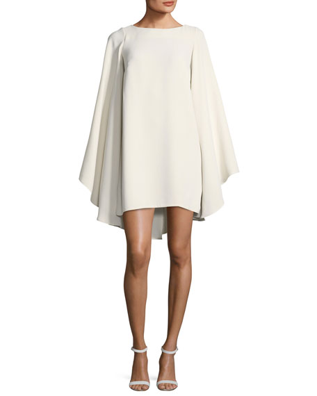Marlene Olivier Wing-Sleeves A-Line Cocktail Dress