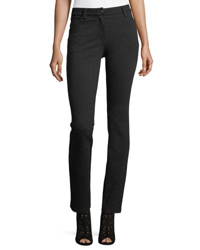 Melange Ponte Skinny Jeans, Petite