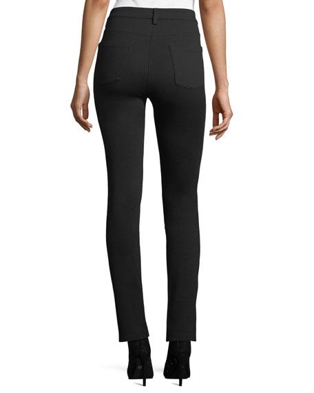 Melange Ponte Skinny Jeans