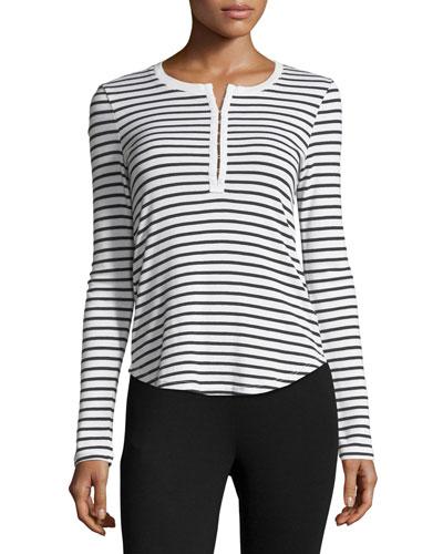 Venice Long-Sleeve Striped Top