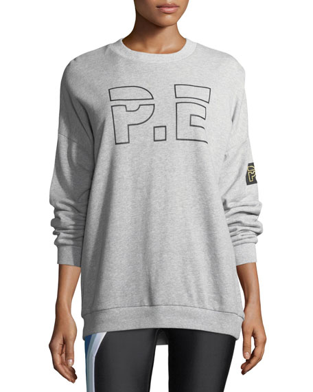 PE Nation Heads Up Drop-Shoulder Logo Sweatshirt