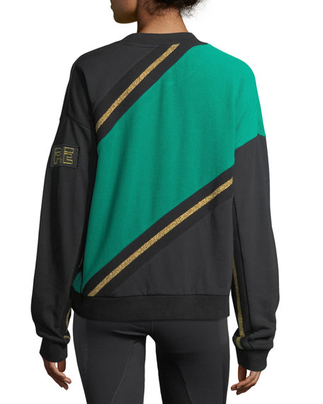 Hangtime Paneled French Terry Sweater