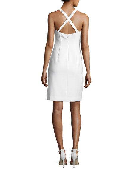 Imogen Cross-Back Ponte Sheath Dress