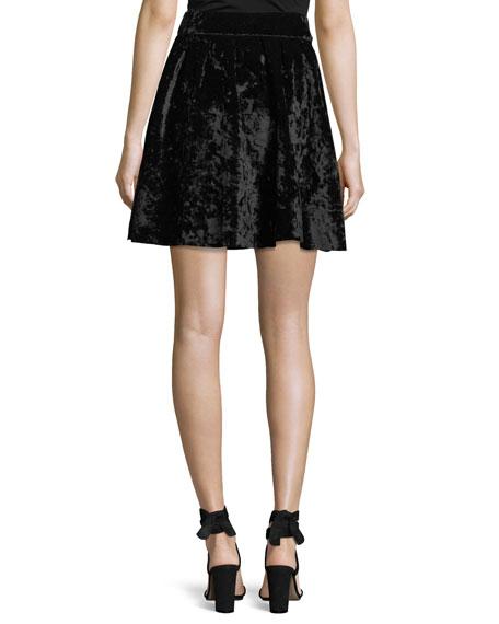 Velvet Mini Flare Skirt