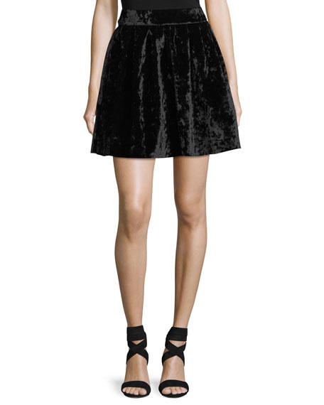FEW MODA Velvet Mini Flare Skirt