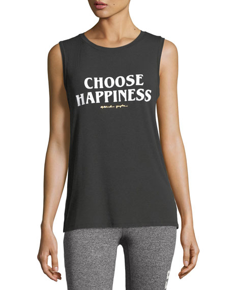 Choose Happiness Chakra Jersey Muscle Tank