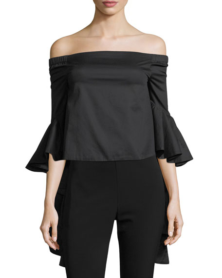 FEW MODA Flared Off-The-Shoulder Blouse