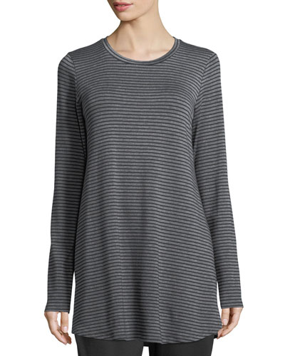 Striped Stretch Terry Tunic