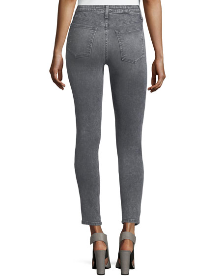 The Charlie High-Rise Faded Ankle Jeans