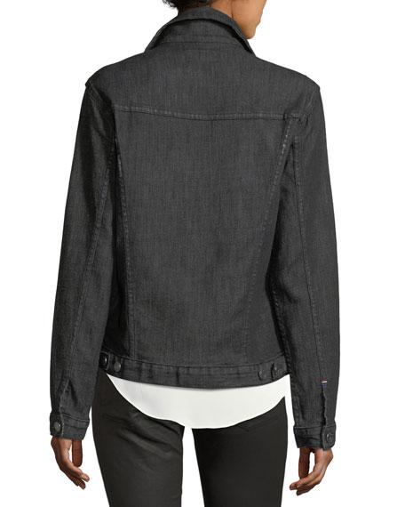 Rihanne Button-Front Denim Jacket