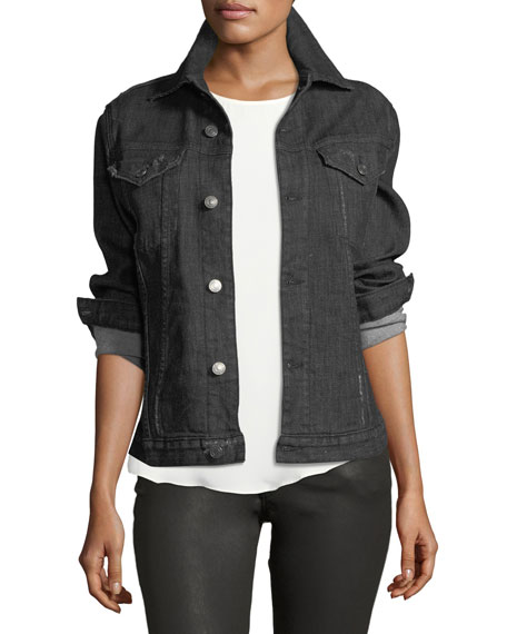 Etienne Marcel Rihanne Button-Front Denim Jacket