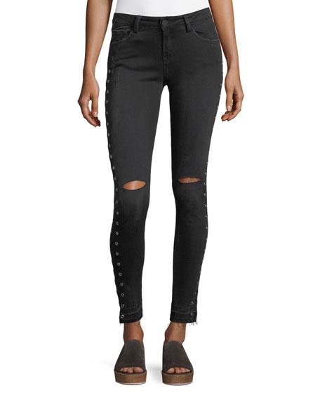 Etienne Marcel Kika Mid-Rise Skinny-Leg Ankle Jeans w/