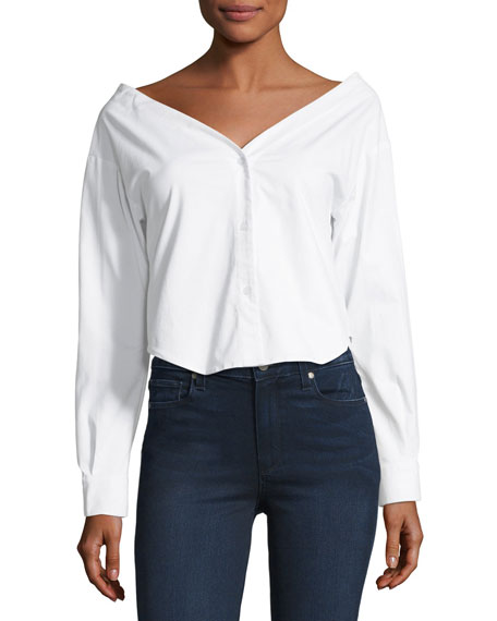 Vogue Devot Wide-Neck Blouse