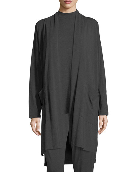 Eileen Fisher Cozy Tencel® Knee-Length Cardigan
