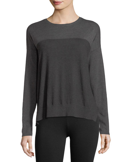 Eileen Fisher Lightweight Cozy Colorblock Box Top and
