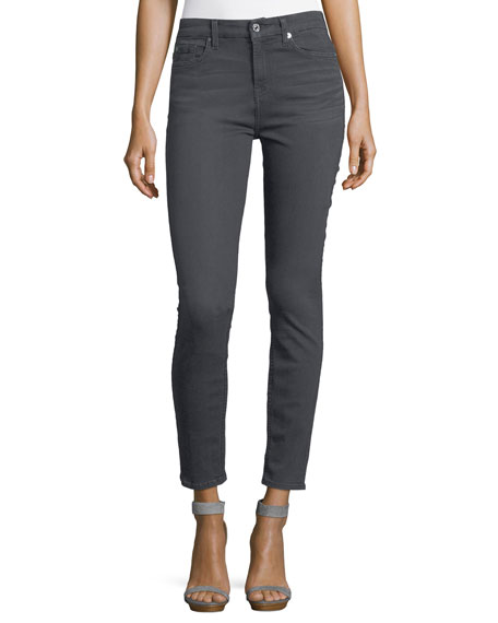 7 For All Mankind High-Rise Ankle Skinny-Leg Jeans