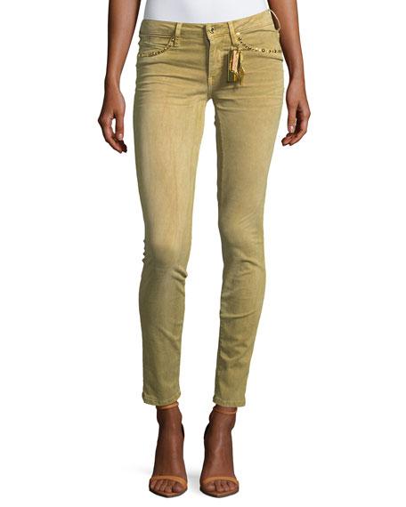Robin's Jeans Marilyn Low-Rise Skinny Jeans w/ Studs