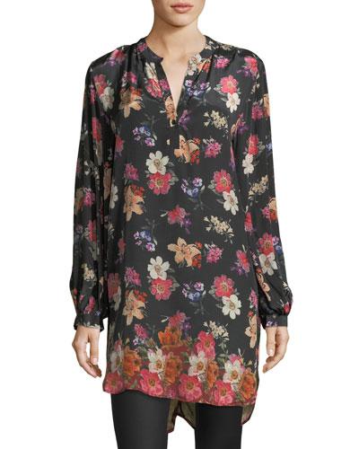 Alaya Floral-Print Tunic Dress, Plus Size