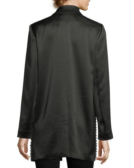 Jace Embellished Notched-Collar Oversized Blazer